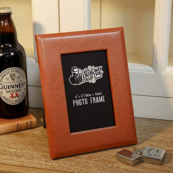 """4"""" x 6"""" - Hemmingway Faux Leather Photo Frame with Gift Box"""
