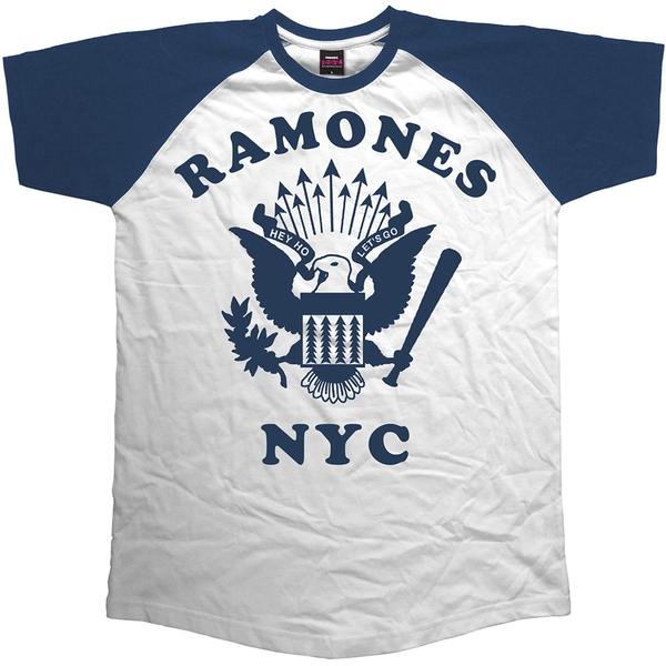 Ramones - Retro Eagle Unisex Medium T-Shirt - Blue,White