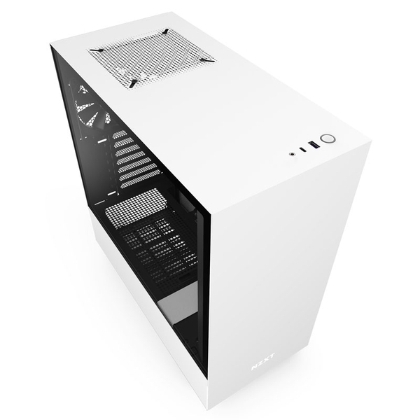 NZXT H510 Midi Tower Gaming Case - White Tempered Glass