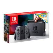 Nintendo Switch Console with Grey Joy-Con Controllers + £30 Nintendo eShop Voucher