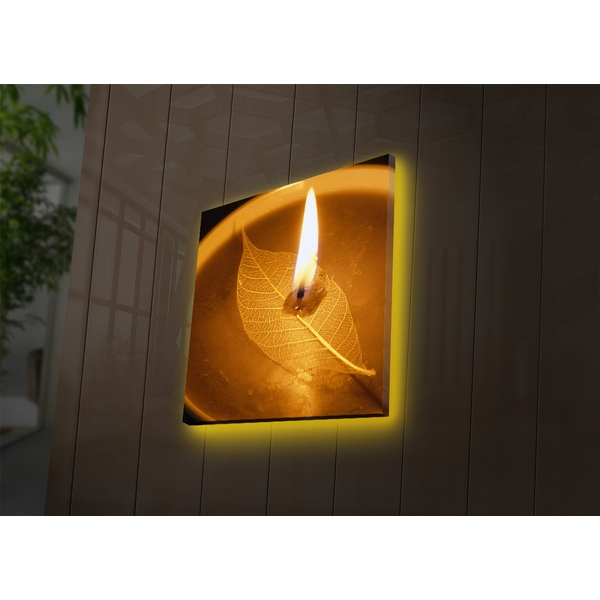 4040DACT-27 Multicolor Decorative Led Lighted Canvas Painting