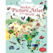 Sticker Picture Atlas of the World by Sam Lake (Paperback, 2013)