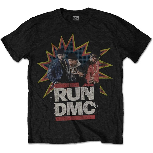 Run DMC - POW! Men's Medium T-Shirt - Black