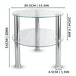 Small Round Glass 2 Tier Table | M&W Clear - Image 7
