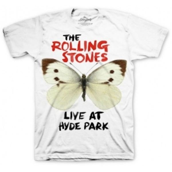 Rolling Stones Butterfly Hyde Park Mens T Shirt: Large