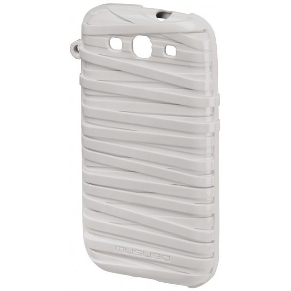 Hama Musubo Rubber Band Cover for Galaxy S3 - White