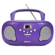 Groov-e GVPS733PE Original Boombox Portable CD Player with Radio Purple UK Plug
