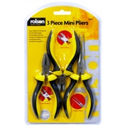 Rolson 3pc Mini Pliers Set