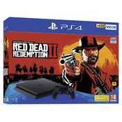 (Trade Special) PlayStation 4 (500GB) Black Console with Red Dead Redemption 2