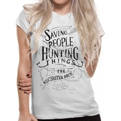 Supernatural - Family Business Women's Large T-Shirt - White