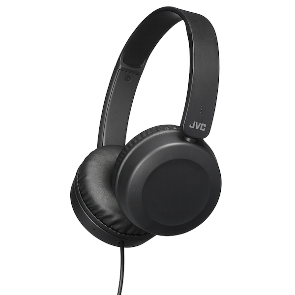 JVC HAS31MBE Foldable Headphones with Remote Mic - Black