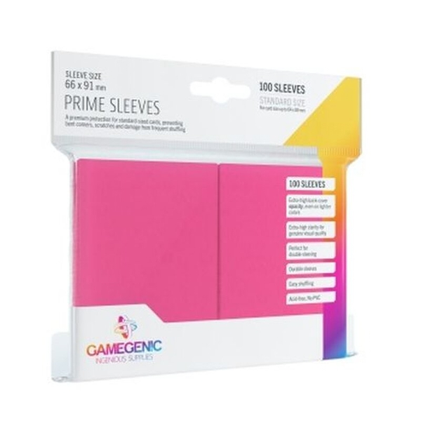 Gamegenic Prime Pink - 100 Sleeves