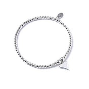 Funky Heart with Sterling Silver Ball Bead Bracelet