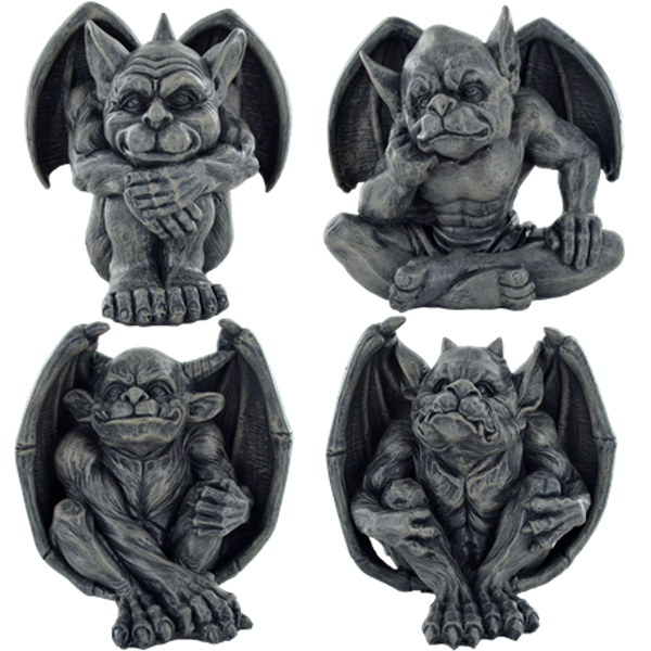 Gargoyle Set of 4 Figures H12.8cm