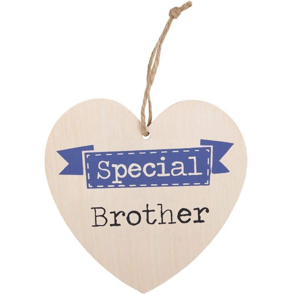 Special Brother Hanging Heart Sign