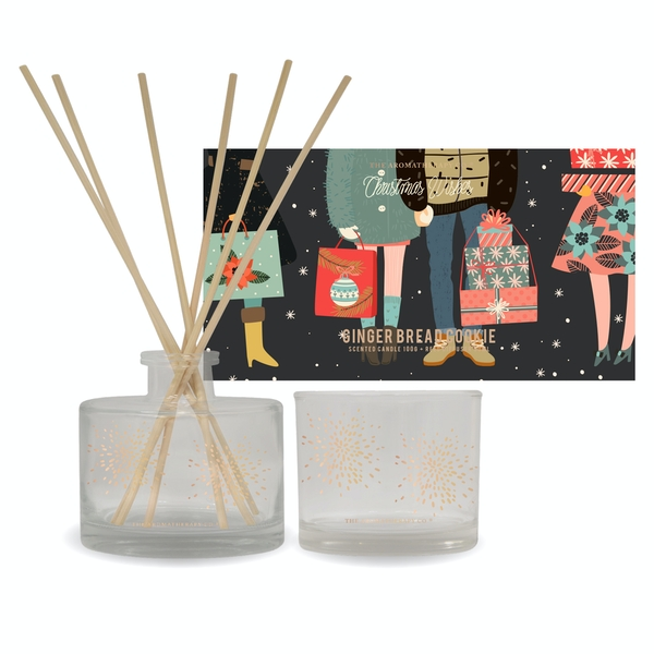 Noel Story 50ml Diffuser 100g Candle Gingerbread Cookie