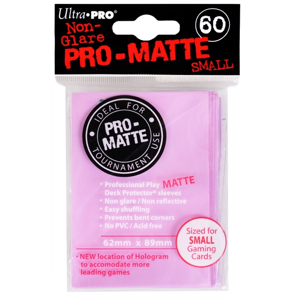 Ultra Pro Pro-Matte Pink Small Deck Protectors - 60 Sleeves