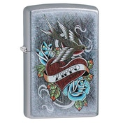 Zippo Vintage Tattoo Chrome Regular Windproof Lighter
