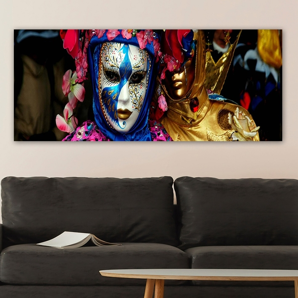 YTYMASK01_50120 Multicolor Decorative Canvas Painting