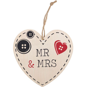 Mr And Mrs Hanging Heart Sign