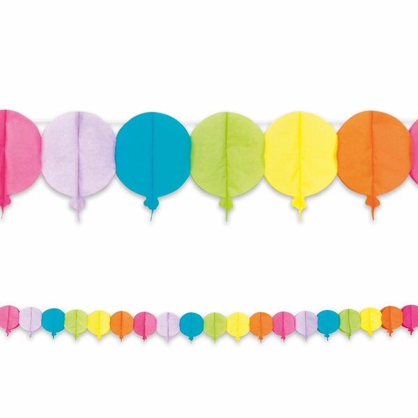 Balloon Shaped Banner Party Decoration