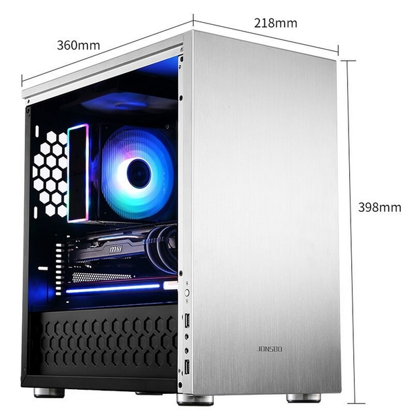 Jonsbo C3 Plus-Silver/window Micro ATX