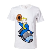 Fallout 4 Vault Boy Bomber Large T-Shirt - White