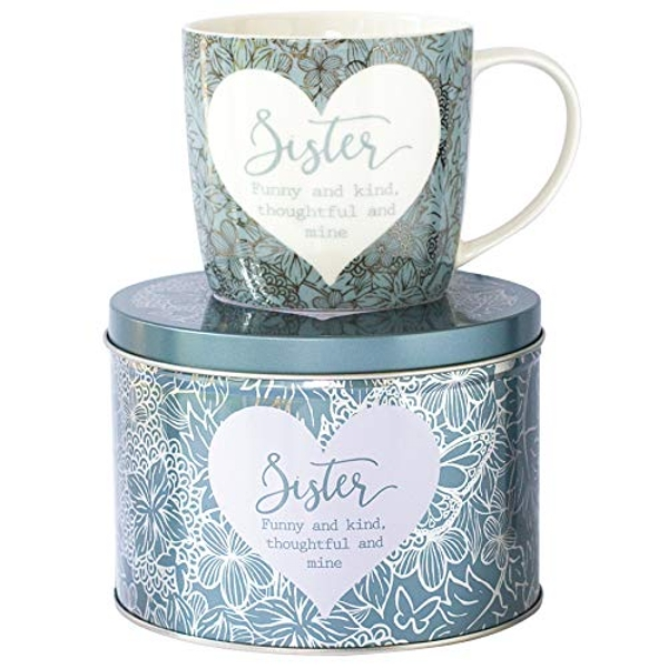 Arora 7055 Said with Sentiment Mug & Tin-Sister, Ceramic