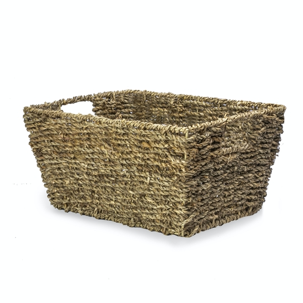 Natural Seagrass Storage Basket | M&W - Image 1