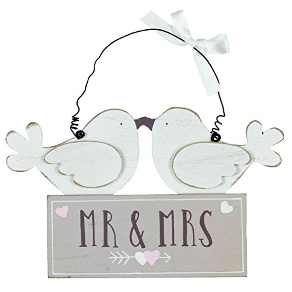Love Story Mr & Mrs Birds Plaque