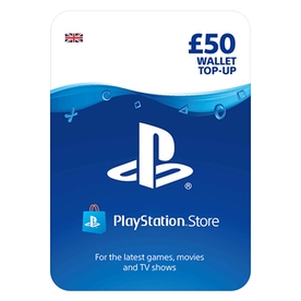 PlayStation PSN 50 Wallet Top Up Card PS4, PS3 & PS Vita - UK Account