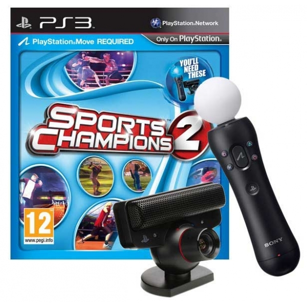 Playstation Move Starter Pack with Sports Champion 2 PS3 Game ...