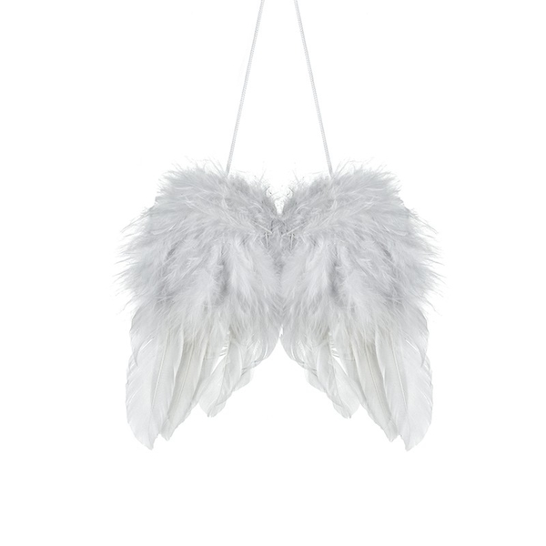 White Feather Hanging Wing Large by Heaven Sends