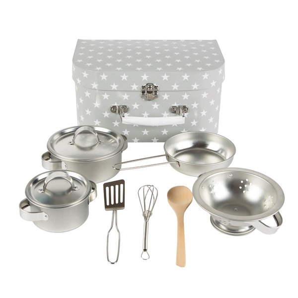 Sass & Belle Grey Stars Play Cooking Set