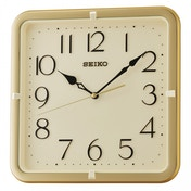 Seiko QXA685G quare Wall Clock with Gold Case