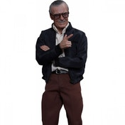 Ex-Display Stan Lee (Movie Masterpiece) Hot Toys 1:6 Scale Figure Used - Like New