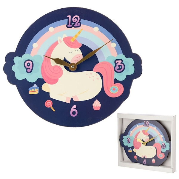 Sweet Dream Unicorn Shaped Wall Clock