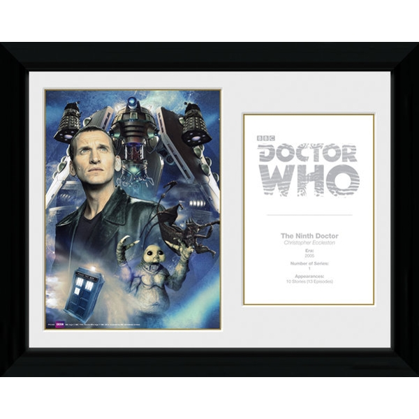 Doctor Who 9th Doctor Christopher Ecclestone Framed Photographic Print