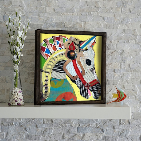 KZM472 Multicolor Decorative Framed MDF Painting