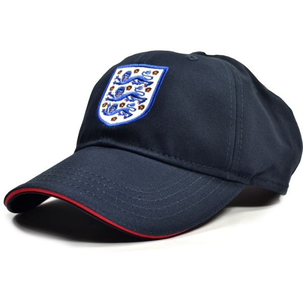 England FA Washed Navy Three Lions Sandwich Peak Baseball Cap