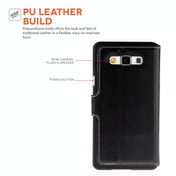 YouSave Accessories Samsung Galaxy A7 Leather-Effect Stand Wallet Case - Black