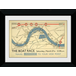 Transport For London The Boat Race 50 x 70 Framed Collector Print - Image 2