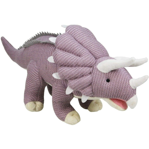 Knitted  Triceratops 12 Inch Plush