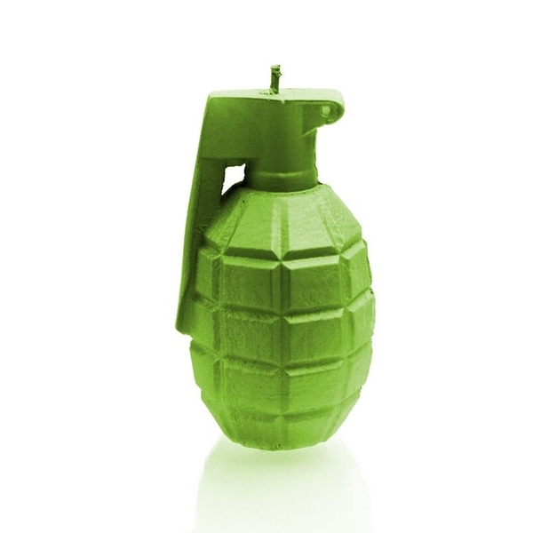 Lime Large Grenade Candle
