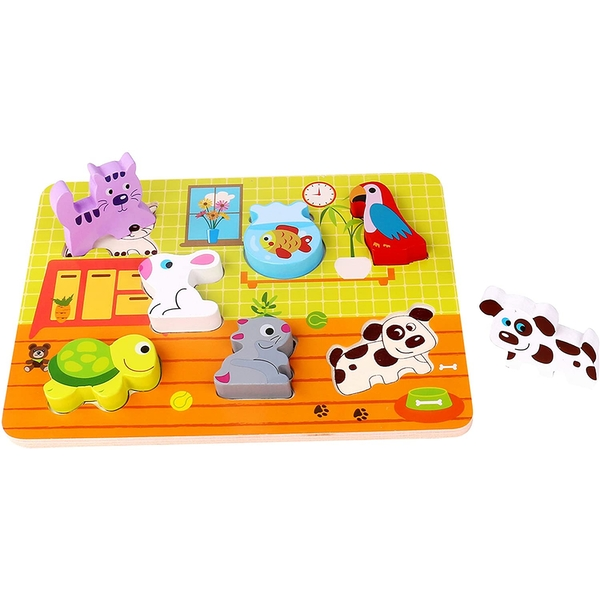 Wooden Chunky Pets Puzzle