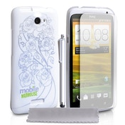 Mobile Madhouse HTC One X Rose IMD Case - White