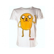 Adventure Time Jake Waving T-Shirt X-Large White