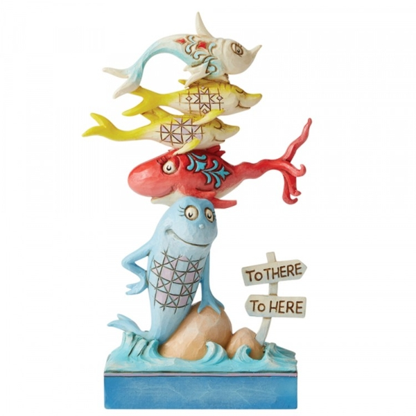 One Fish Two Fish Red Fish Blue Fish Dr Seuss Figurine