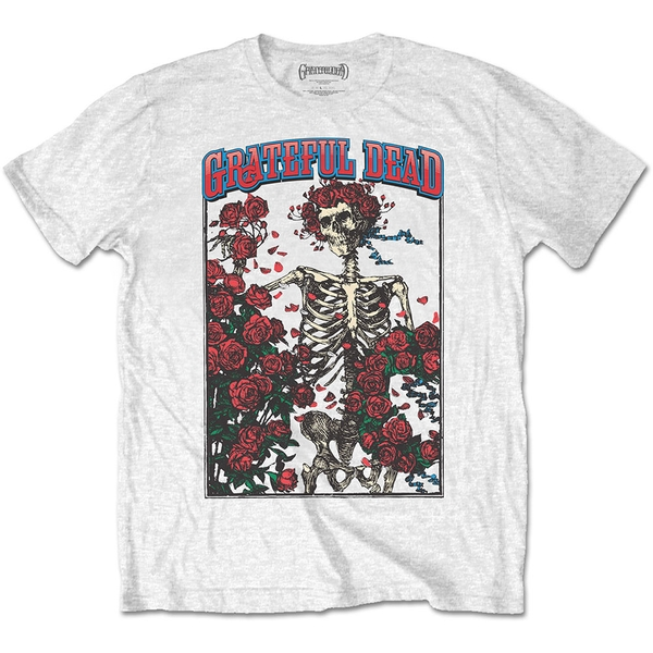 Grateful Dead - Bertha & Logo Unisex Large T-Shirt - White