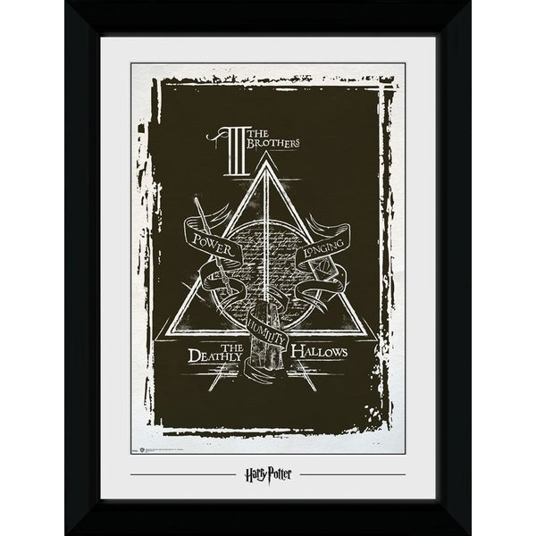 Harry Potter Deathly Hallows Graphic Collector Print